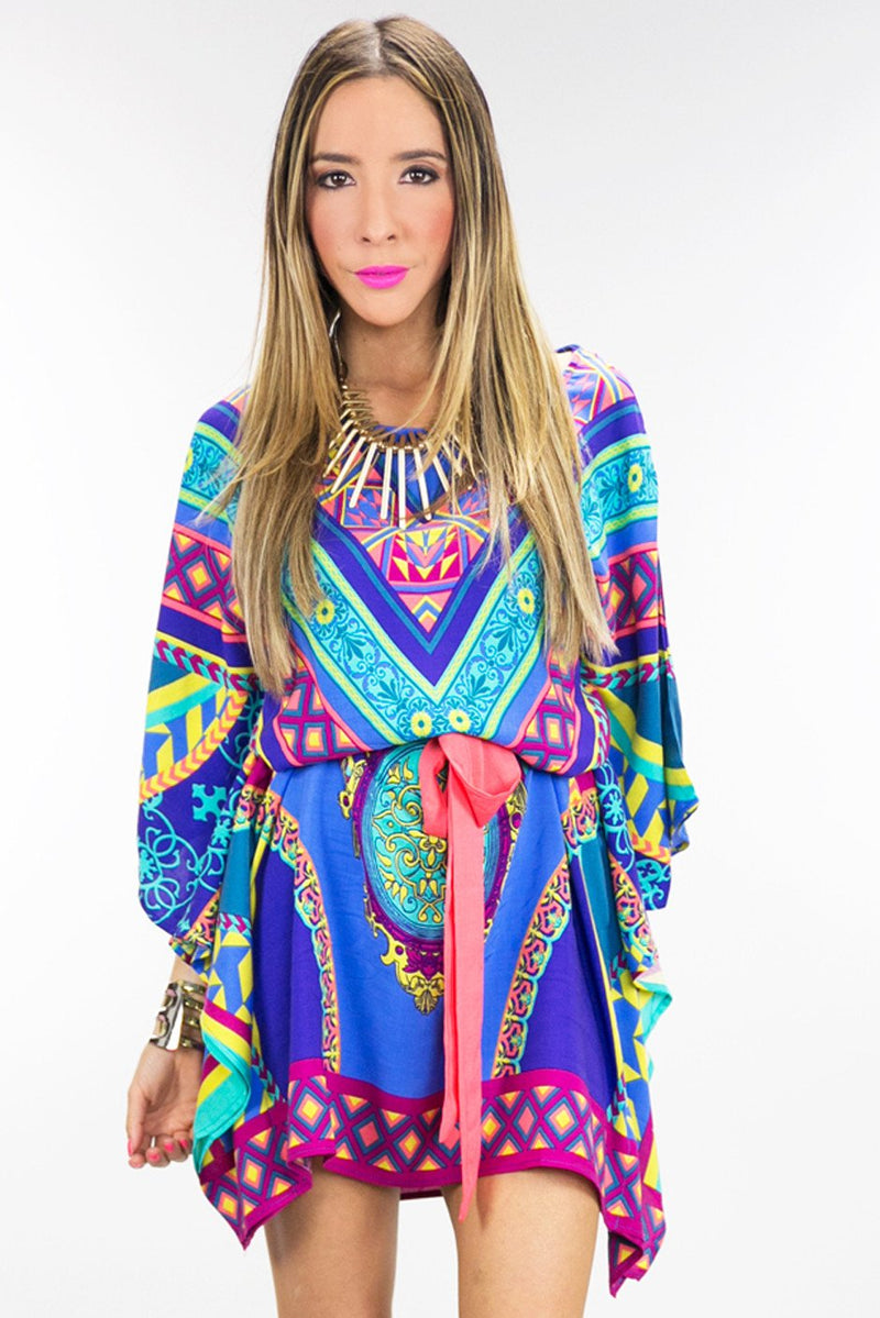 NALIA TRIBAL KIMONO TIE DRESS - Haute & Rebellious