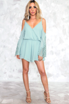 Let Me Love You Shoulder Cutout Romper - Haute & Rebellious