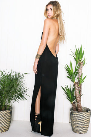 Becca Halter Maxi Dress - Haute & Rebellious