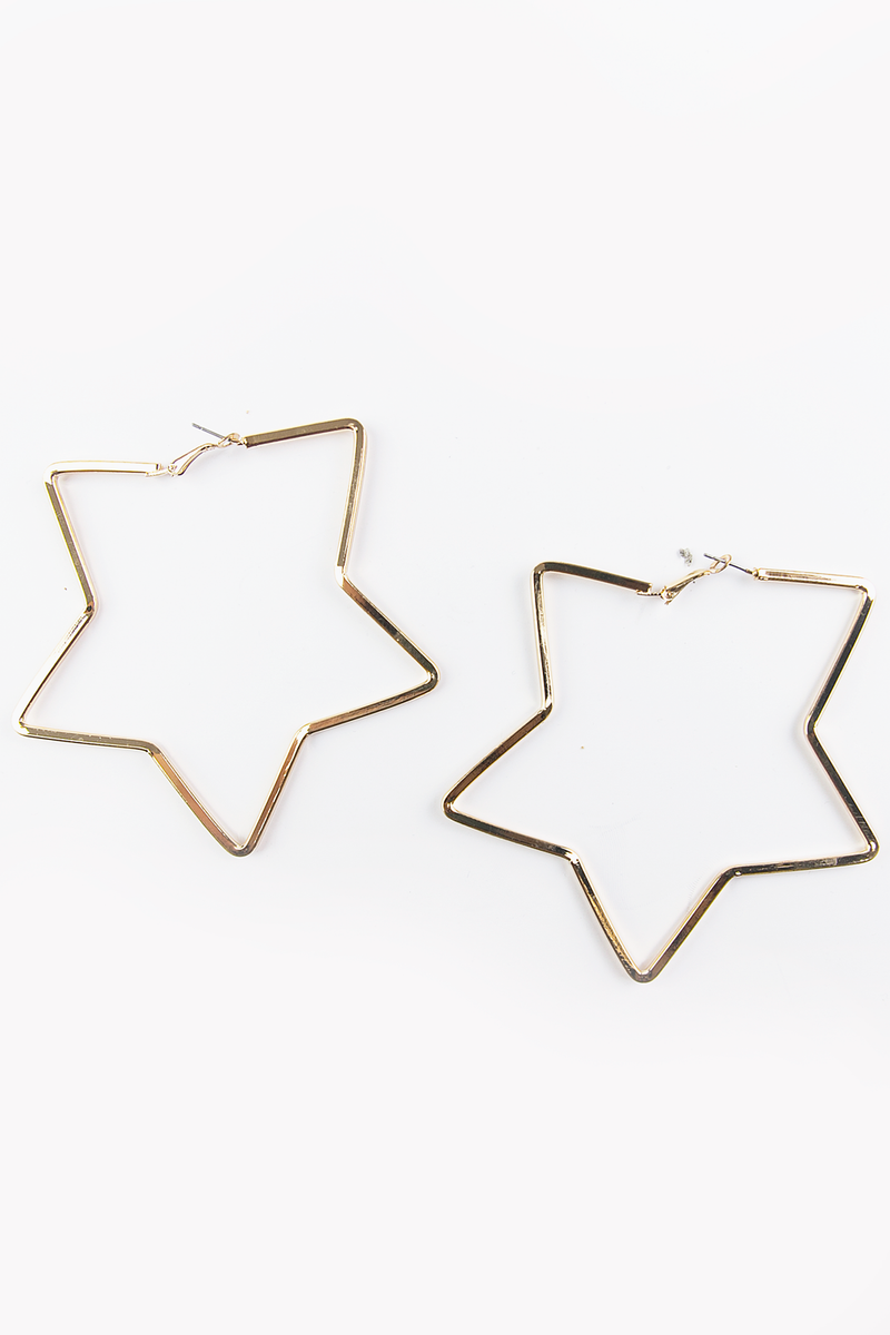 All Or Nothing Star Hoop Earrings - Haute & Rebellious