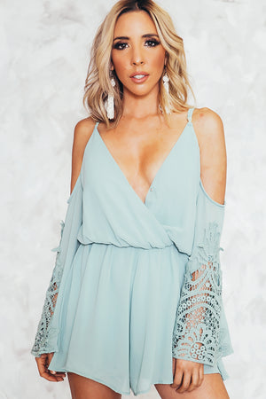 Let Me Love You Shoulder Cutout Romper