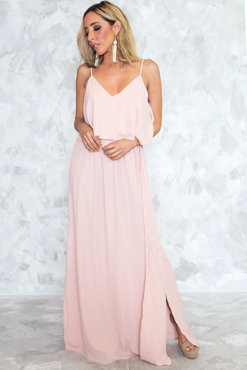 Sweet Love Ruffle Maxi - Blush - Haute & Rebellious