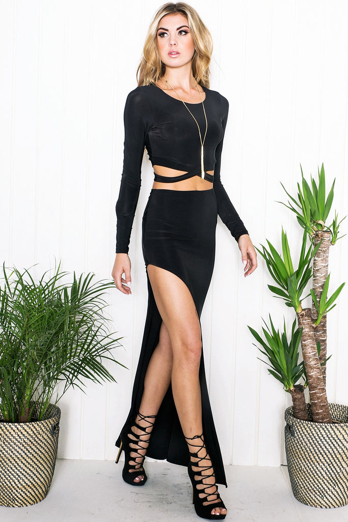 Akilah Two-Piece Set - Black - Haute & Rebellious