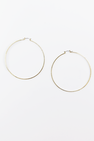 With you hoop earrings - Haute & Rebellious