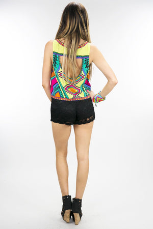 NAVIA TRIBAL COLORED CROP TOP - Haute & Rebellious