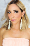 Ready To Go Fringe Earrings - Ivory - Haute & Rebellious