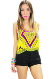 NALIA TRIBAL CROP TOP