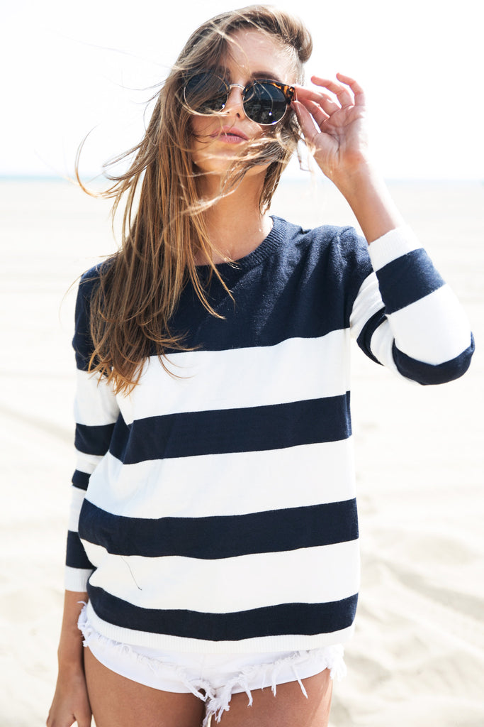 Recker Striped Pullover Sweater