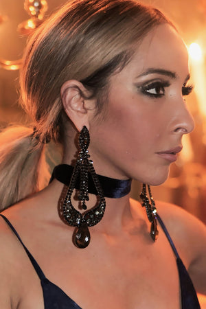 Victorian Long Crystal Earrings - Haute & Rebellious