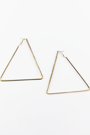 Walking On The Sun Triangle Earrings - Haute & Rebellious