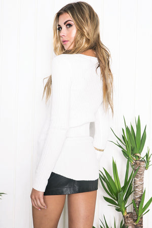 Mirela Ribbed Long Sleeve Top - Haute & Rebellious