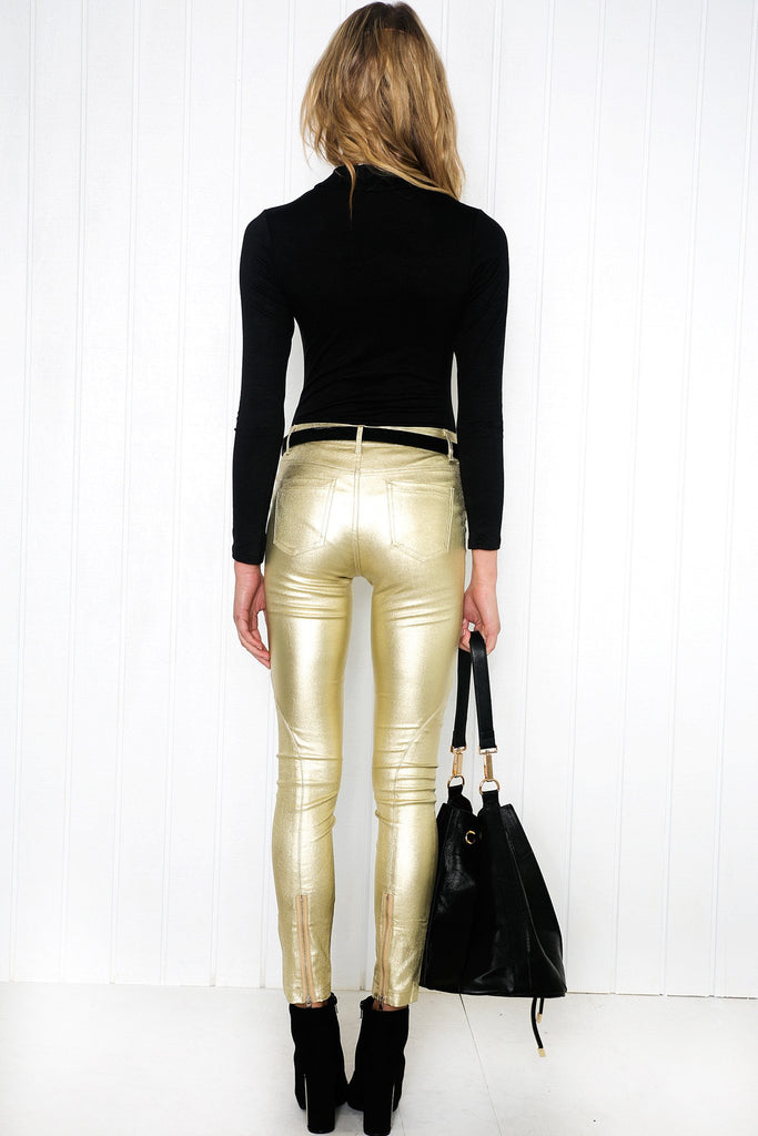 Esmay Gold Jeans