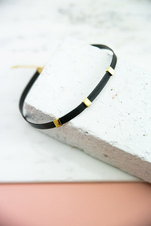 Metal & Leather Choker - Haute & Rebellious