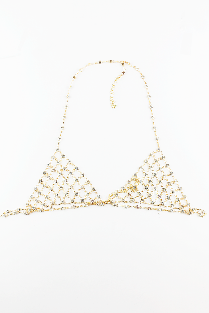Hear You Say Metal Chain Bralette