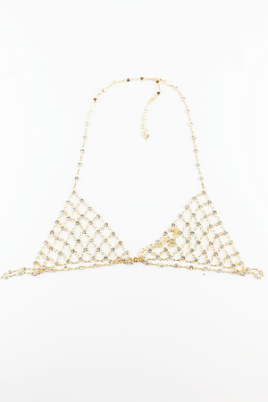 Hear You Say Metal Chain Bralette - Haute & Rebellious