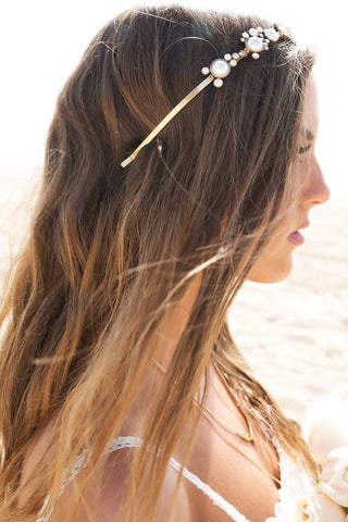 Layla Gold Leaves Hair Clip