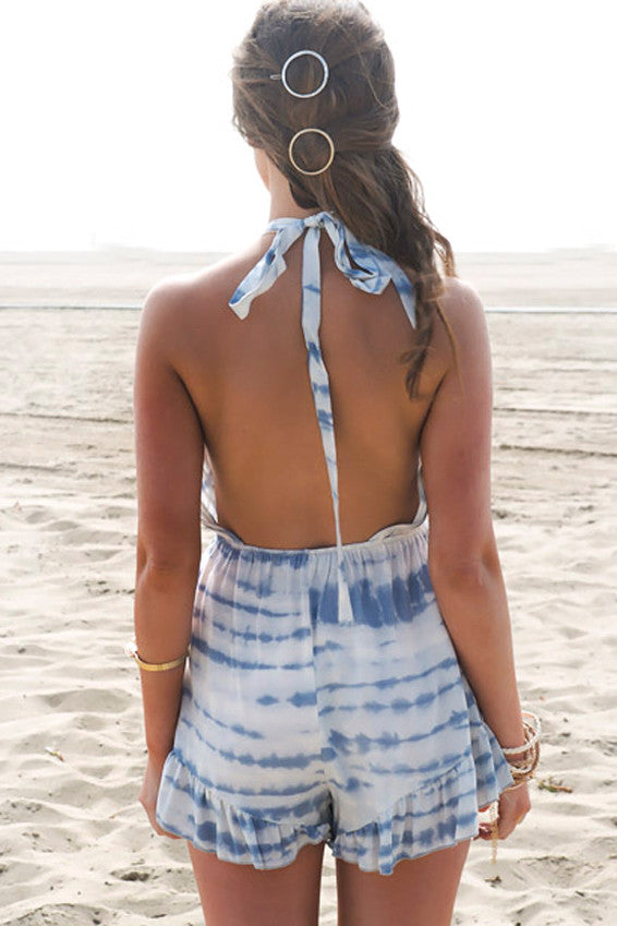 Sky's The Limit Tie-Dye Romper - Haute & Rebellious