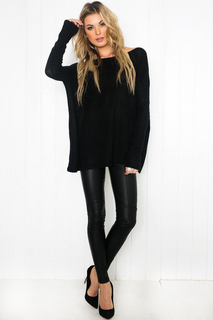 Suzanna Long Sleeve Top - Black