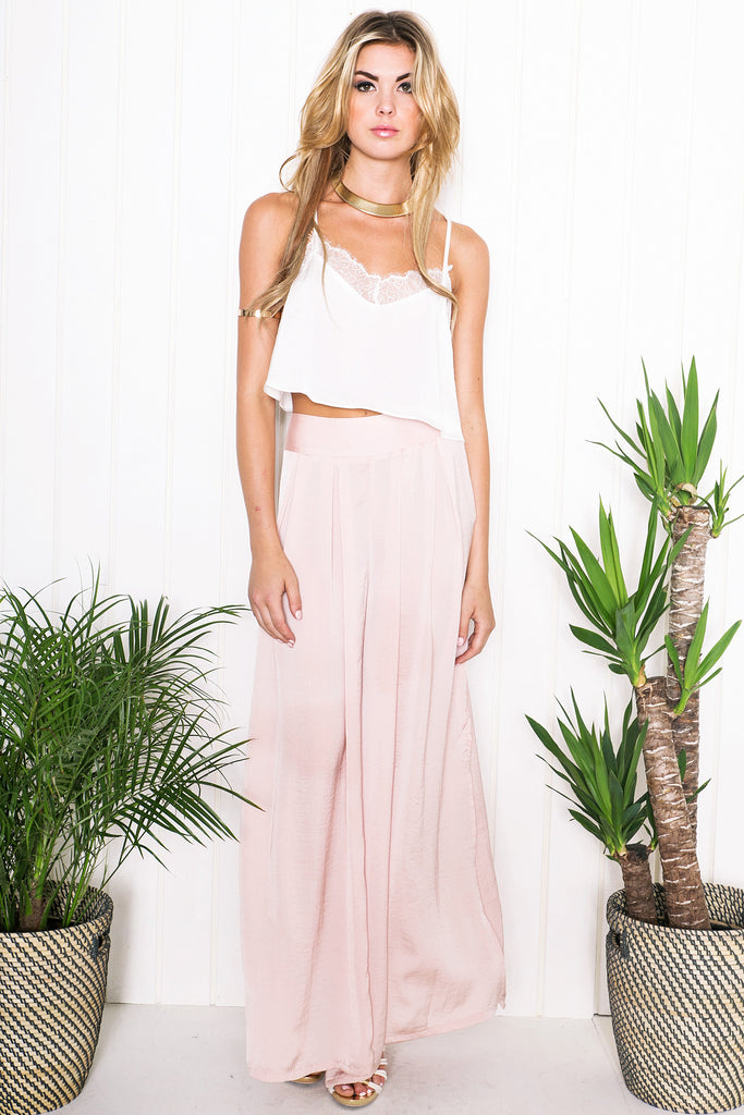 Shelby Wide-Leg Slit Pants