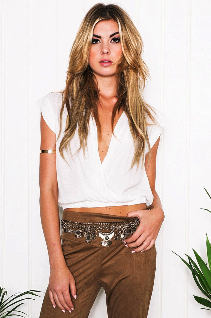 Luna Cross Crop Top