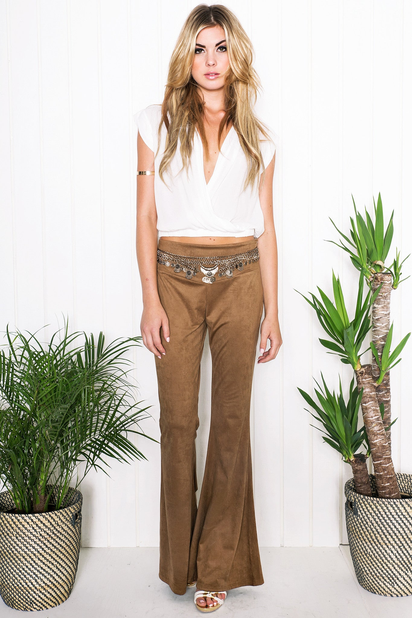 Rand Suede Bell Bottom Pants /// Only 1-M Left ///