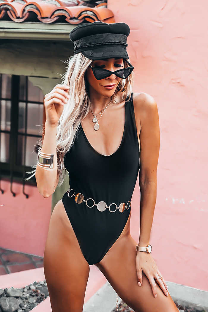 High-Cut One-Piece Swimsuit