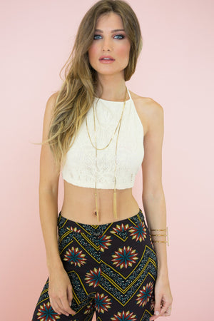 Lindsey Halter Crop Top /// ONLY 1-L LEFT/// - Haute & Rebellious