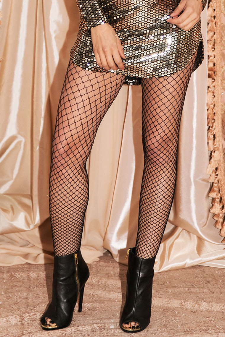 Midnight Escape Fishnet Leggings - Haute & Rebellious