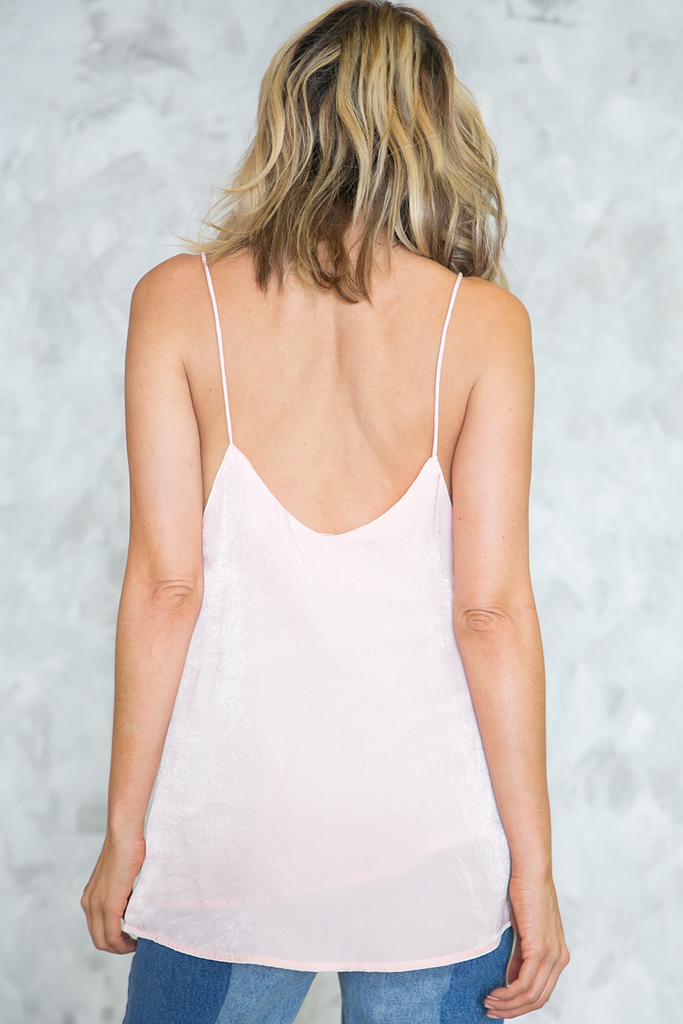 Emma Satin Cami Top - Light Pink - Haute & Rebellious
