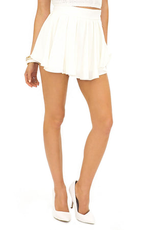 MARGIELA PLEATED SKORT - White - Haute & Rebellious