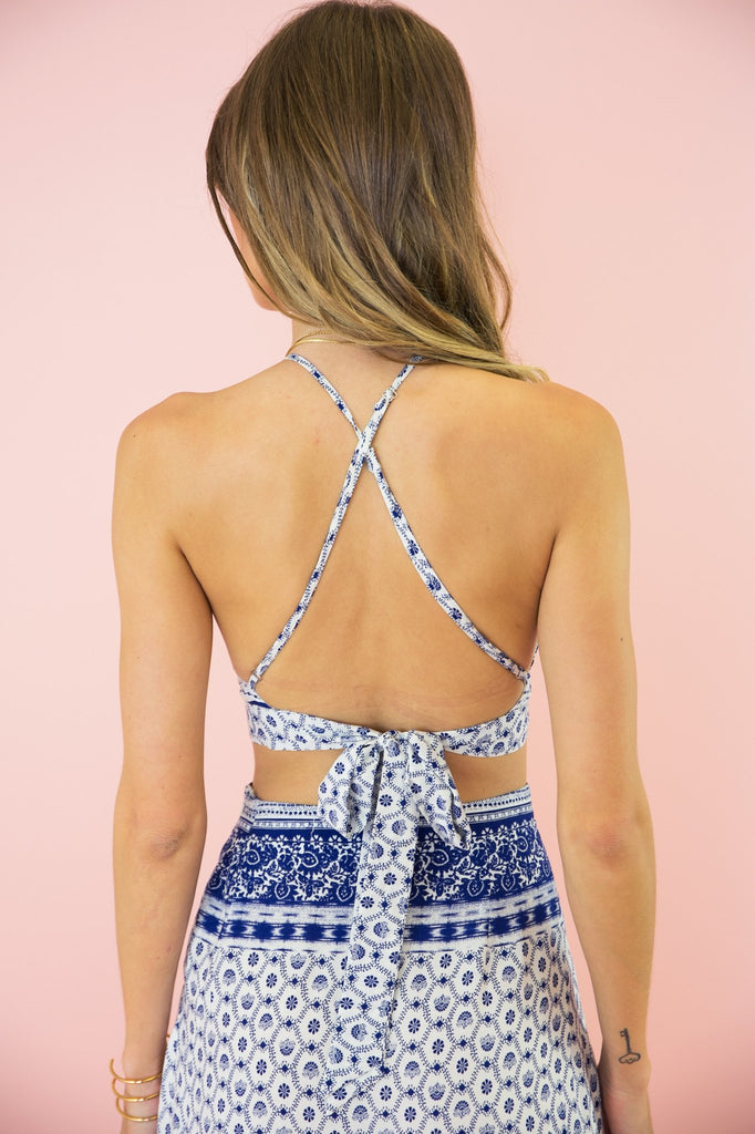 Kaija Flower Print Halter Top