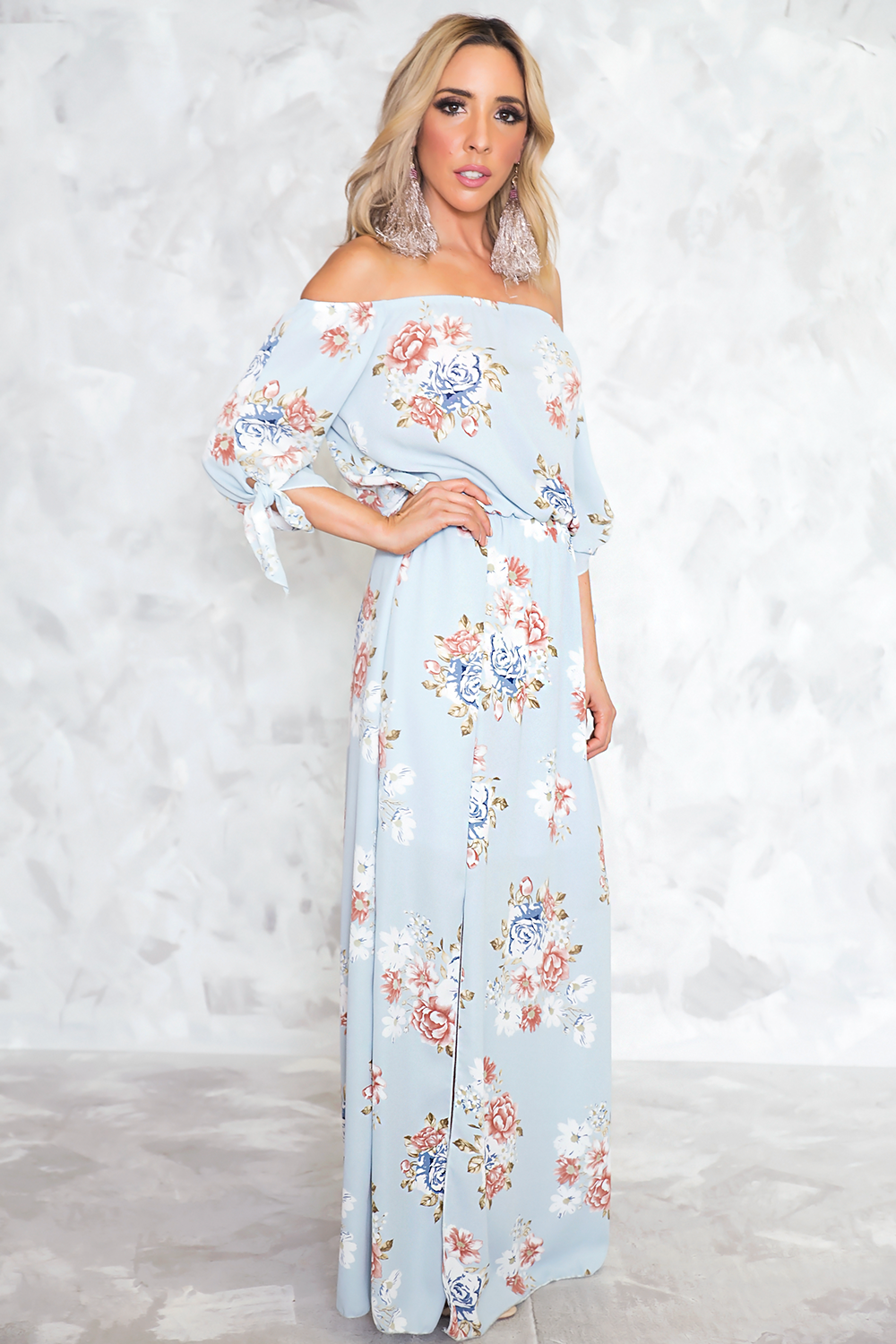 Be Your Love Floral Off Shoulder Maxi