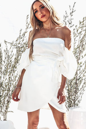 Off Shoulder Wrap Dress