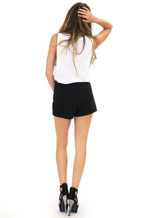 EMILIA QUILTED CRYSTAL CROSSES SHORTS - Haute & Rebellious