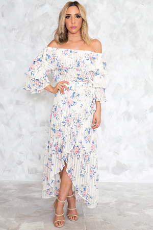 Stay a While Floral Ruffle Set - Haute & Rebellious