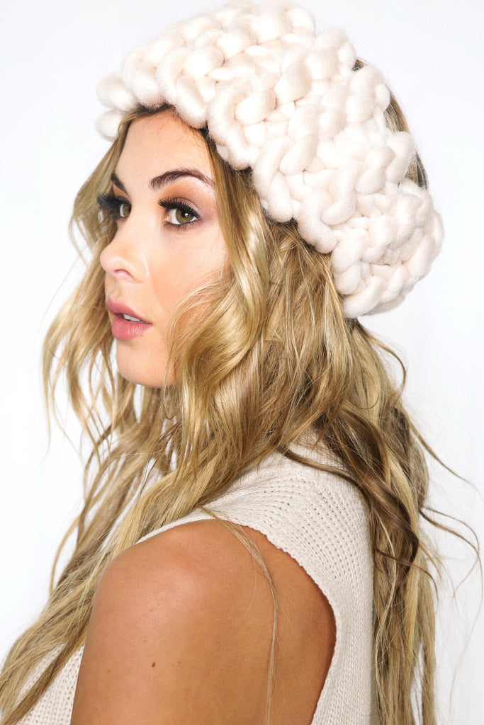 Kina Knitted Headband - Beige