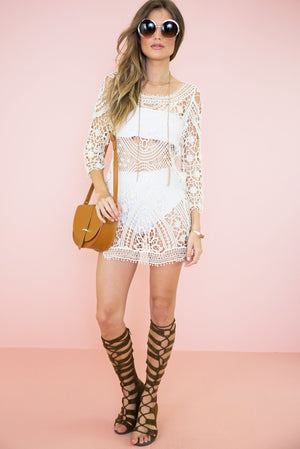 Mahana Crochet Tunic - Cream - Haute & Rebellious