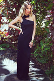 BERIN ONE SHOULDER MAXI - Black - Haute & Rebellious