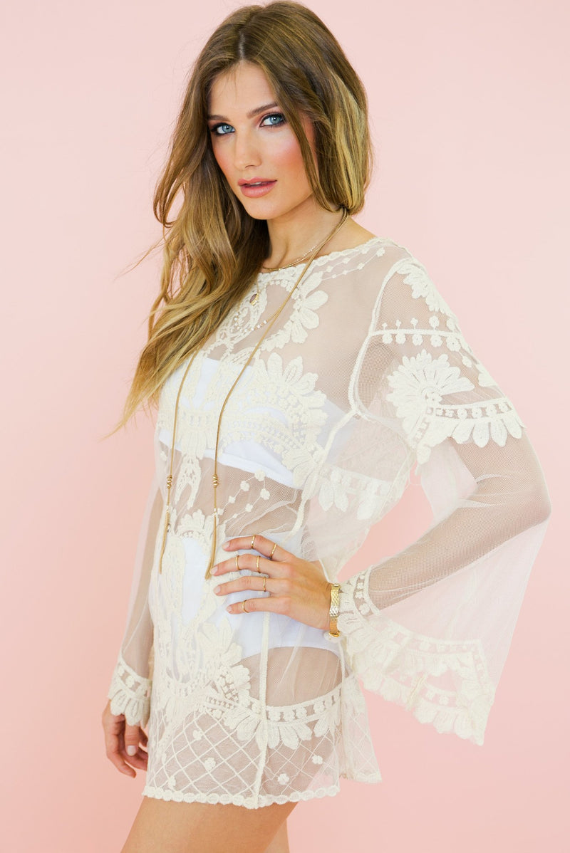 Cailin Crochet Tunic - Ivory /// ONLY 1-L LEFT/// - Haute & Rebellious