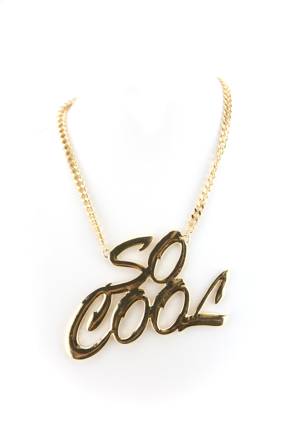 SO COOL LARGE SOLID GOLD NECKLACE - Haute & Rebellious