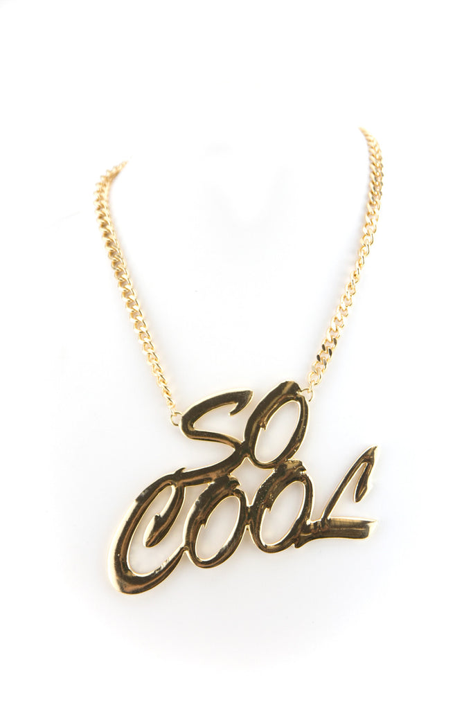 SO COOL LARGE SOLID GOLD NECKLACE