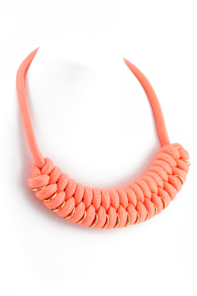 TIGHT ROPE NECKLACE - Peach
