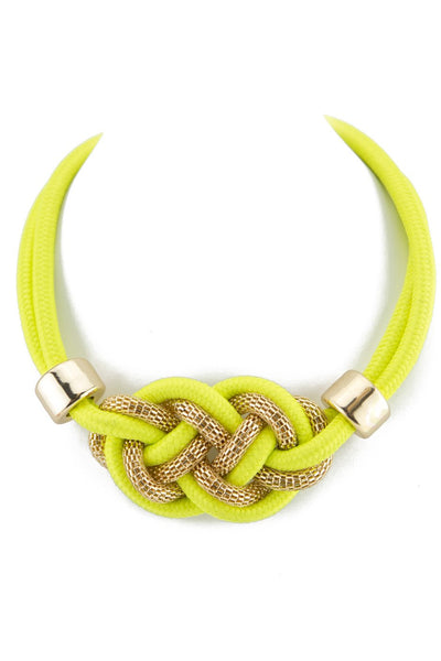 NELA GOLD & ROPE NECKLACE - Yellow - Haute & Rebellious