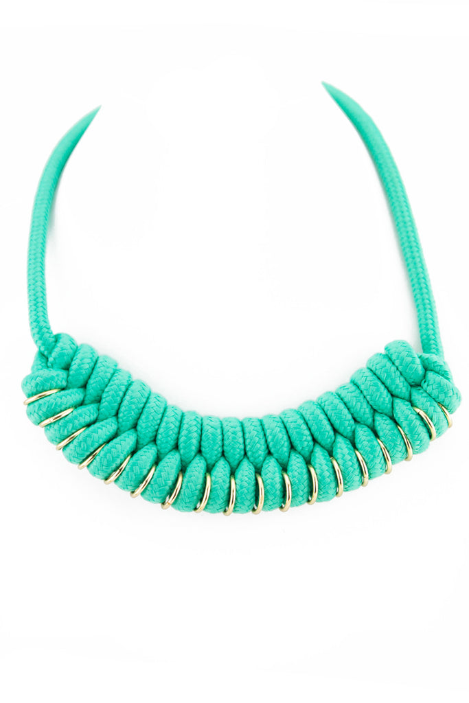 TIGHT ROPE NECKLACE - Aqua