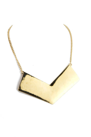 HUT TRIANGULAR PLATED NECKLACE - Haute & Rebellious