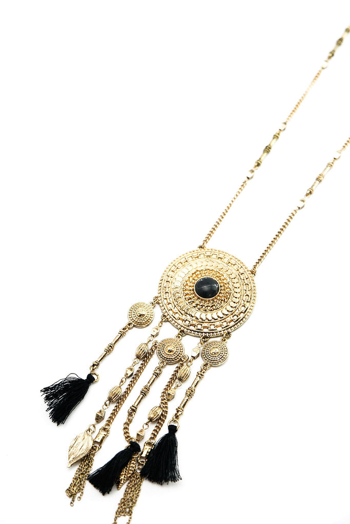 Jayda Long Fringe Necklace