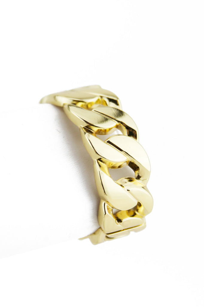 SOLID GOLD CHAIN LINK BRACELET