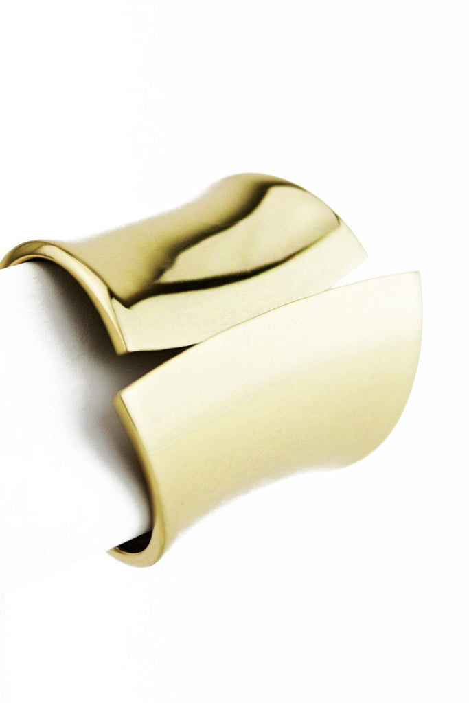HEAVY SOLID GOLD CUFF BRACELET