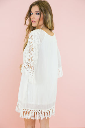 Layla Crochet Fringe Sun Dress - Haute & Rebellious