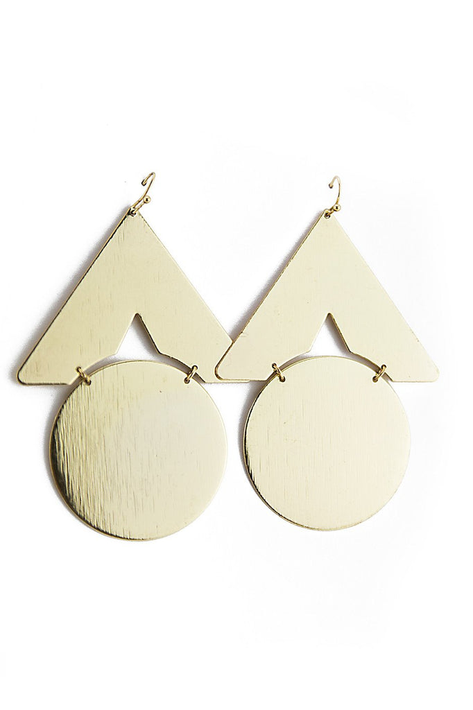 GEOMETRIC PLATED EARRINGS - Haute & Rebellious